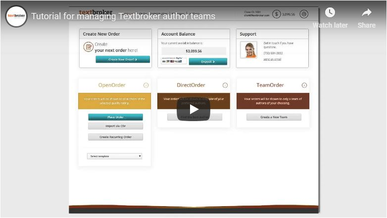 Cómo gestionar tu equipo de autores en Textbroker