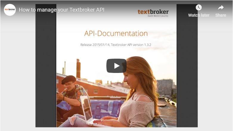 Textbroker API