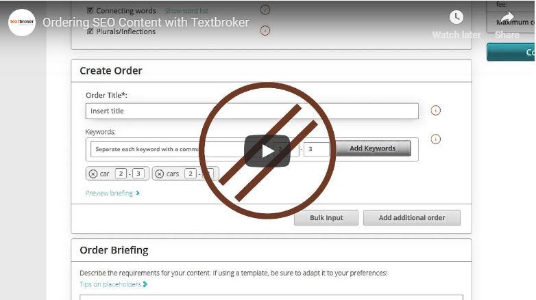 Opciones SEO en Textbroker